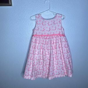Baby Gap Pink Cutout Floral Dress 4